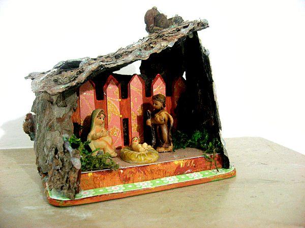 Amiche di Scrap: sfida Ispirato da #2 - Desi DT - small homemade nativity
