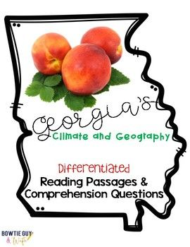 In this resource, there is a nonfiction reading passage about the regions of Georgia, rivers of Georgia, Georgia geography, and climate. It is differentiated for your high, mid, and lower level students as you study about Georgia History. Integrate Georgia History content with your
