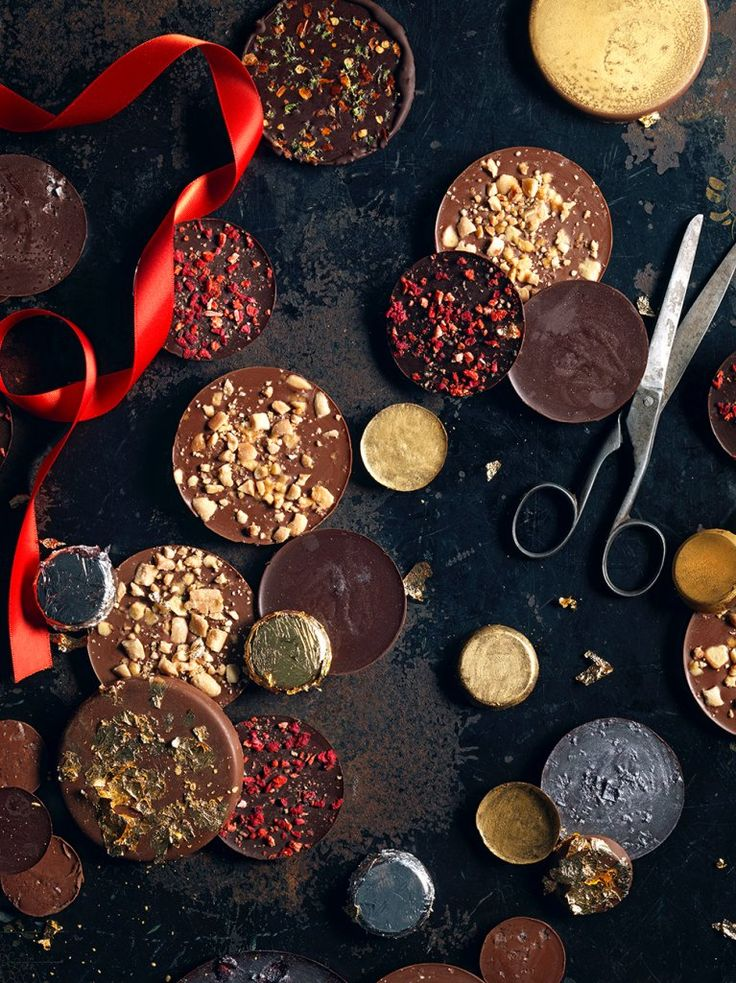 great flavour ideas. must try the roasted peanut and honey comb or chili and lime zest or pistacio & honey!!  Chocolate coins