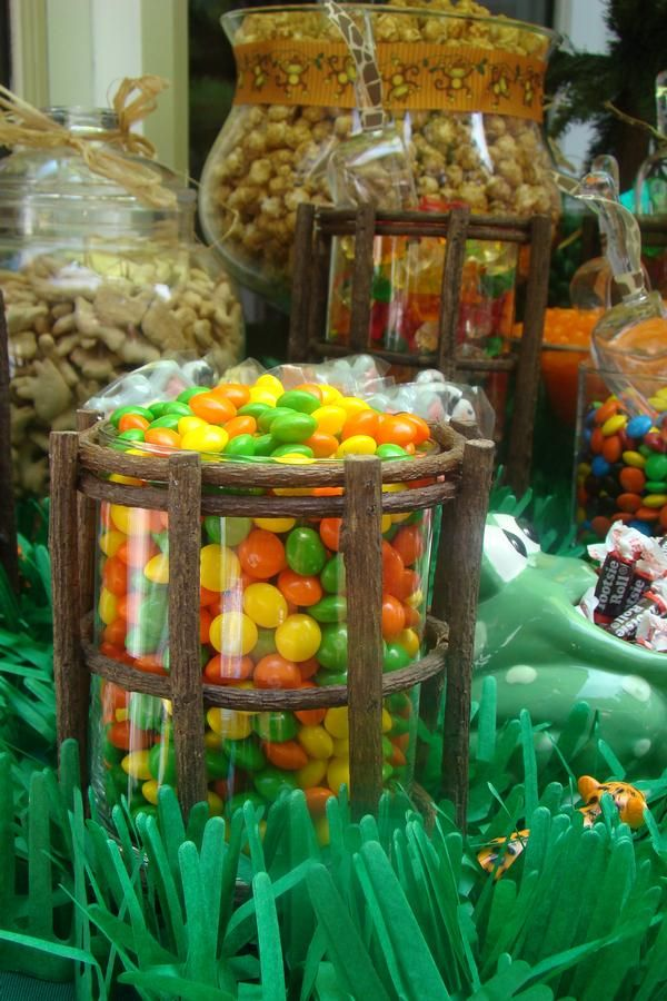 Dessert table with a jungle feel... perfect for a Where the Wild Things Are party.