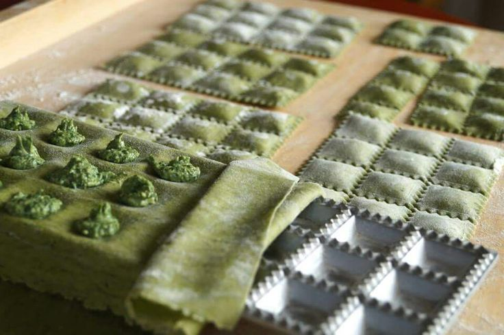 Ravioli verde con spinaci