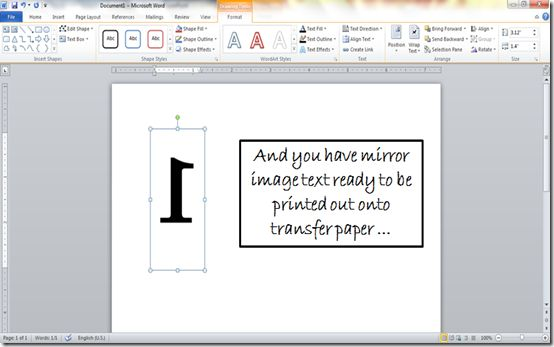 how-to-make-mirror-image-text-in-word