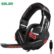 US $15.60 Salar KX236 USB Gaming Headset Gaming Headphone with Microphone for PS4 laptop PlayStation 4 pc headphones for computer. Aliexpress product