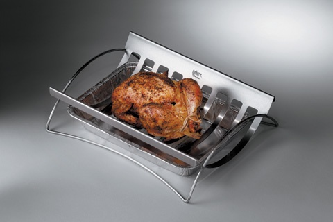 Stainless Steel Roast Holder - for the person that has it all.
