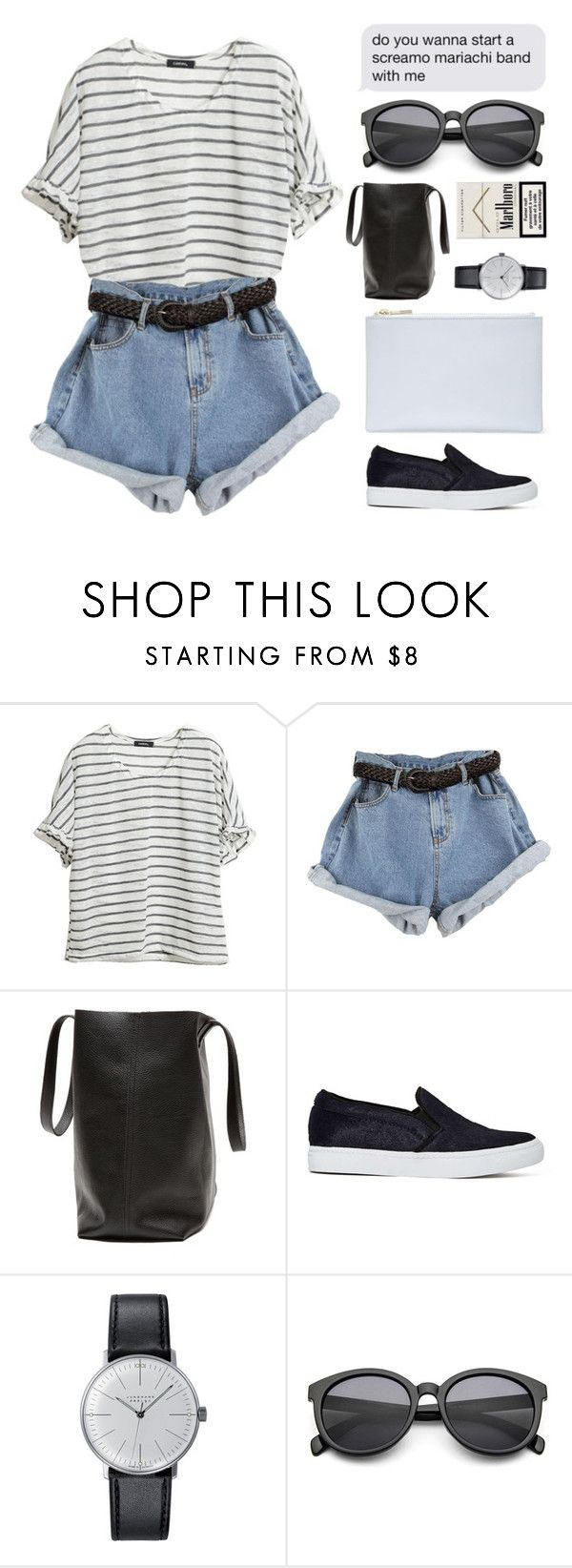 """""""#37"""" by foalsy ❤ liked on Polyvore featuring Jeffrey Campbell, Junghans and Whistles"""