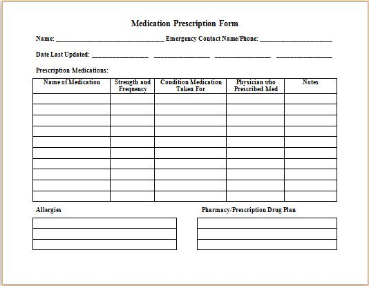 Medical prescription form at http\/\/wwwbestmedicalforms - sample consumer complaint form