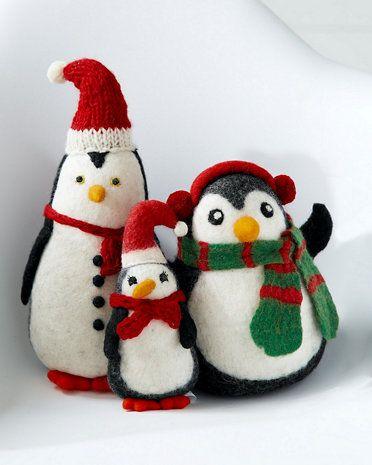 Holiday Felt Penguins / Garnet Hill