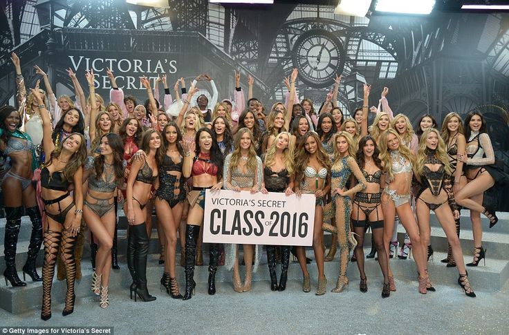 Victorias Secret Class of 2016! The girls posed in their finery for a stunning group shot after the show...