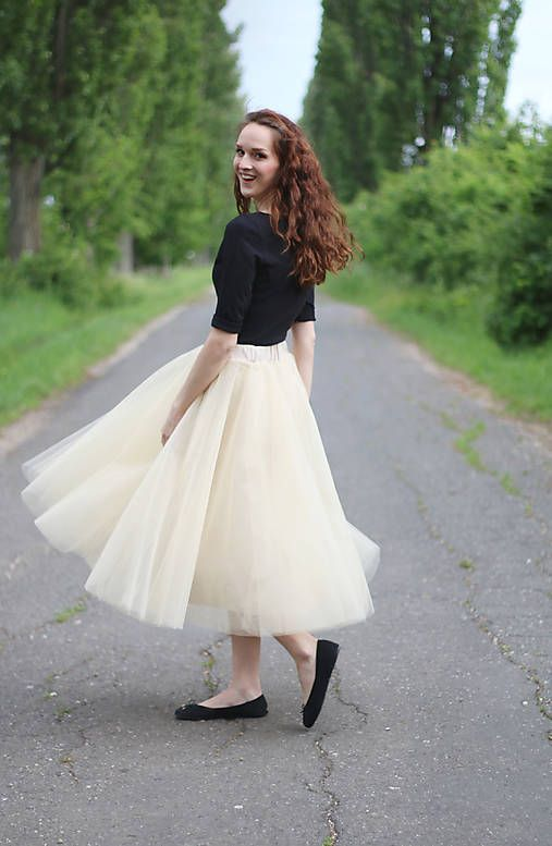 ZuzanaZachar / MIDI tylová sukňa