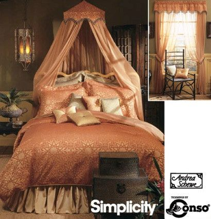 Home Decor Sewing Pattern Bedroom Accessories with Valance, Dust Ruffle, Pillows and More Simplicity 5315