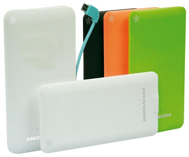 Power Bank 3000mAh Mediacom Portable Battery pack, vari colori  20 euro  Caricabatterie di scorta per cellulari, mp3, macchine fotografiche, un oggetto ormai indispensabile, un regalo sempre gradito.