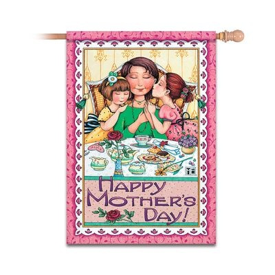 Mary Engelbreit Happy Mother's Day Decorative Flag By Hamilton Collection