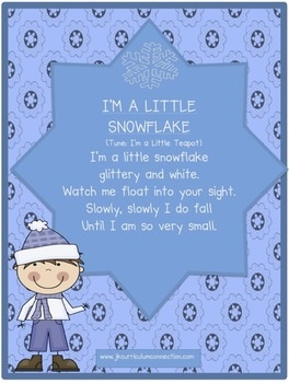 Winter Snowflake Song! I'm a Little Snowflake