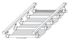 Store pour véranda type vélum - Stores vélum de toit pour véranda sur mesure - Store intérieur ...