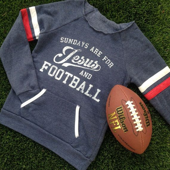Sundays are for Jesus and Football Eco-Fleece Cozy by weekendUP  As a football player's girlfriend, I need this!!