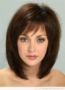medium length hairstyles with bangs for thin hair (1)