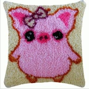 Lovely Pink Pig 2016 Hook Rug Kit DIY Unfinished Crocheting Yarn Mat Latch Hook Rug Kit Floor Mat Santa Claus Picture Carpet Set //Price: $24.95 & FREE Shipping //     #hashtag1