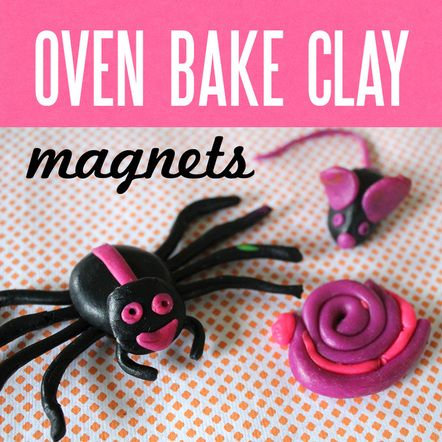oven bake clay projects | Oven Bake Clay Magnets - Part 2 in the Redecorating our UGLY fridge ...