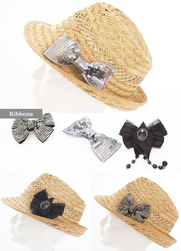 Decora tu sombrero playero con...lazos