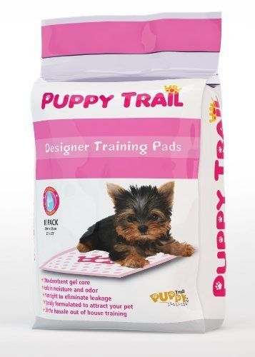 Puppy Trail Hearts AND Crowns Design Puppy Training Pads - Pink - Pack 100 -- Read more at the image link. #DogHousebreakingSupplies
