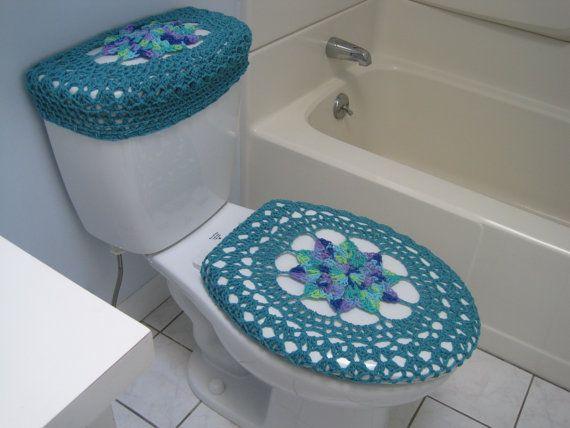 Cubierta de asiento de inodoro de ganchillo o Crochet inodoro