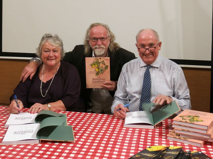 With the lovely Sam & Jeannie Chesterton at the launch of the book I shot with them 'The Buenvino Cookbook', at the Instituto Cervantes in London, April 2014.