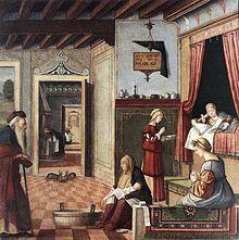 Vittore Carpaccio - Nascita della Vergine