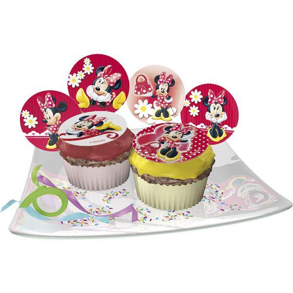 Jak udekorować muffinki: - przygotować muffinki przycinając górną część, aby była płaska - posmarować muffinki lukrem lub polewą czekoladową - położyć cukrowy opłatek Życzymy smacznego