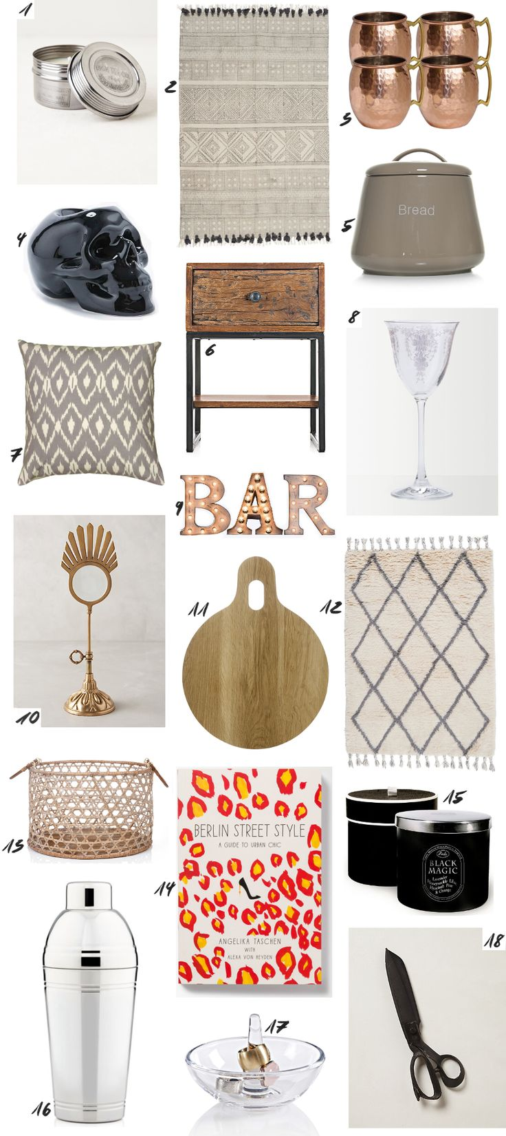 Winter Sale Home Decor Picks | Featuring Moscow Mule Copper Mugs, Skull Candle Holder | Silver Cocktail Shaker. More on www.thedashingrider.com