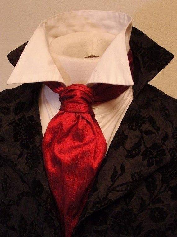FORMAL Victorian Ascot Tie Cravat