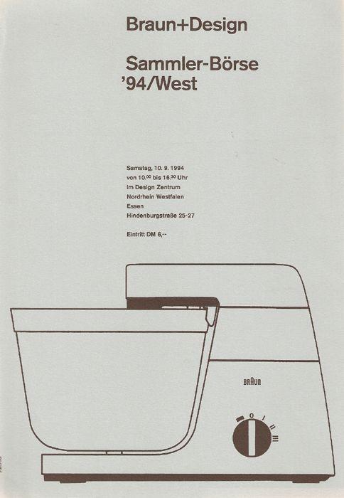 Braun KM 32 food processor, Gerd Alfred Mueller and Robert Oberheim, 1964