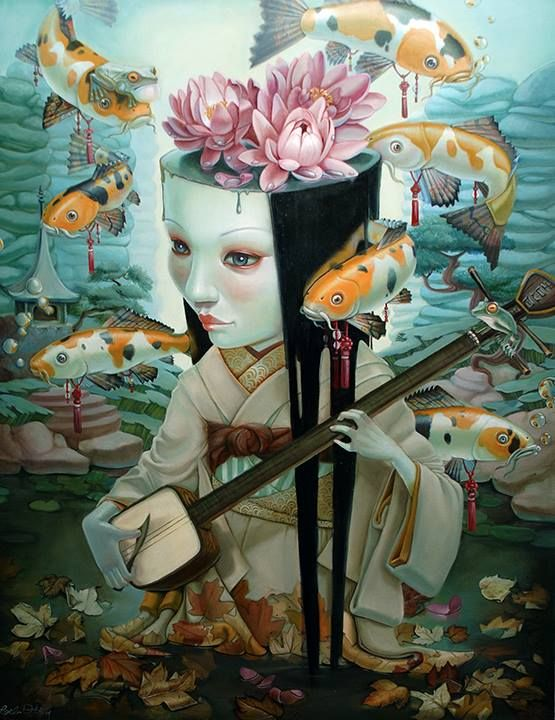 On our website now: Mesmerizing Pop Surrealism by Leslie Ditto  http://beautifulbizarre.net/2014/05/18/mesmerizing-pop-surrealism-leslie-ditto/