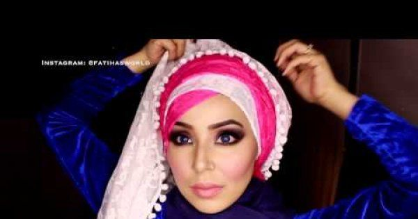 Zigzag Criss Cross Bridal Hijab Tutorial ft. www.saifmodesty.com |fatihasWORLD