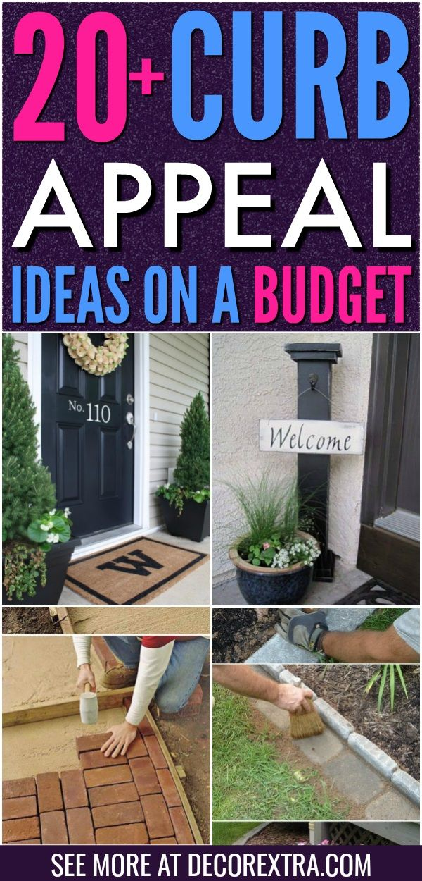 20 Easy Diy Curb Appeal Ideas On A Budget That Will Totally Transform Your Home Easy Curb Appeal Ideas Diy Curb Appeal Curb Appeal Landscape