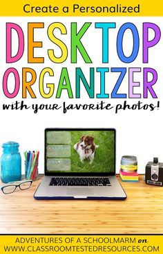 Learn how to make a personalized desktop organizer for your computer wallpaper with this quick and easy tutorial. Create custom wallpaper using your favorite photos! I love having an organized desktop with my own meaningful photos. :D