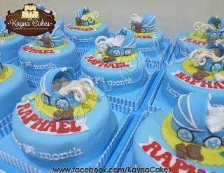 Baby Raphael full month celebrations cake. Manyue / Manyek cake
