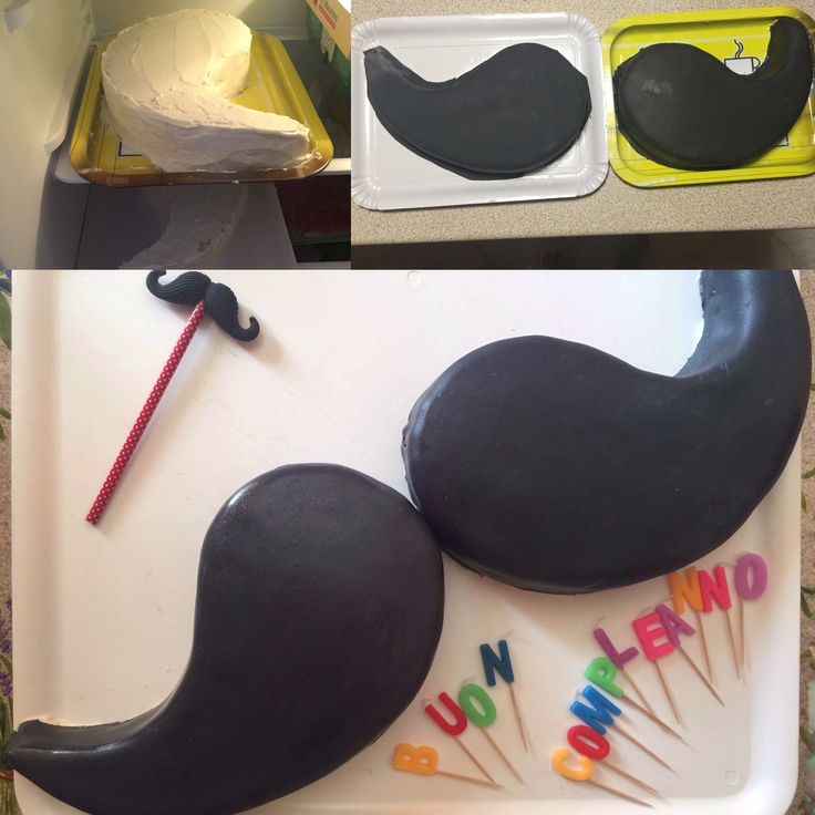 Torta moustaches: Fasi