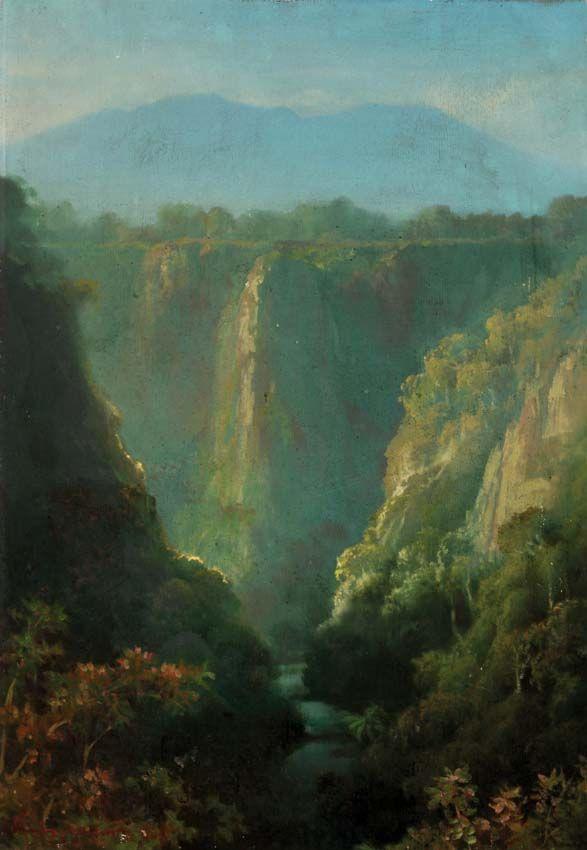 Mahyuddin S. (Bukittinggi, Sumatra 1924 - 1993) - Waterfall.