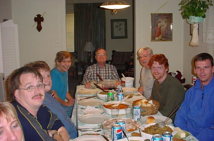 Paulist Fr. John Kenny with members of his family at Thanksgiving dinner