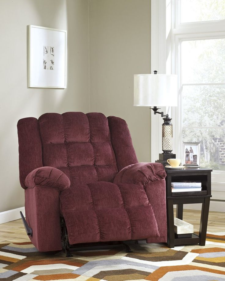 Get Your Ludden   Burgundy   Rocker Recliner At Railway Freight Furniture, Albany  GA Furniture Store.