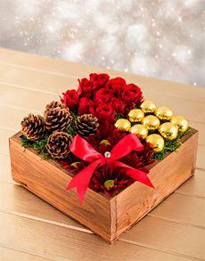 Flowers: Christmas Box Arrangement!