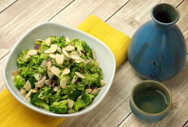 This practically no mayo chopped broccoli salad gets it creaminess from a very ripe avocado.  You don't have to worry about this salad going bad, but it won't last long enough anyways.