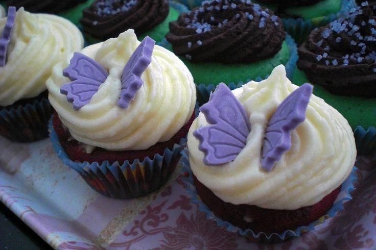 Red velvet vegan cupcake