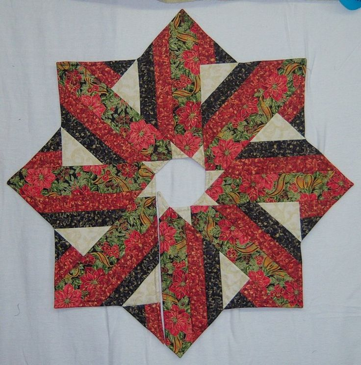 Holiday Dressing Tree Skirt-Hedgehog Quilts-7348