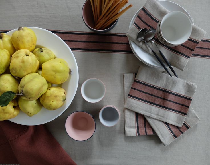 Libeco Linen Napkins and cloth HOME COLLECTION Canvas Cloth and Bowl