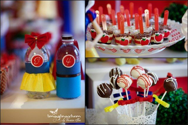 Treats at a Snow White Party #snowwhite #partytreats