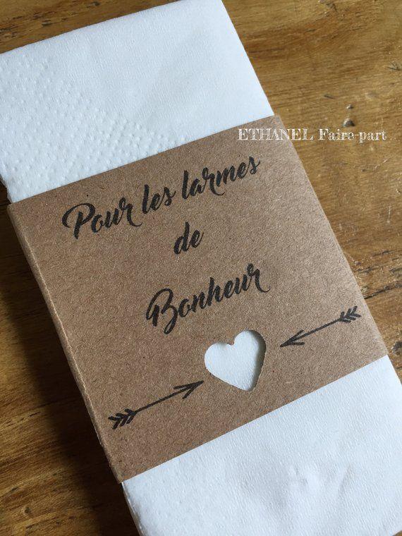 Label handkerchief marriage ceremony hankie, retro stylish kraft bag, set of 10