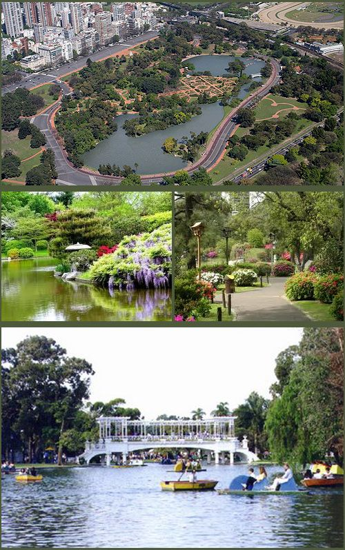 "With its almost 200 acres, the Bosques de Palermo is the ""Central Park"" of Buenos Aires and contains many popular and beautiful sites such as El Rosedal, el Planetario, and the largest individual park within it, the Parque 3 de Febrero. The top view is only a partial one of the huge area."