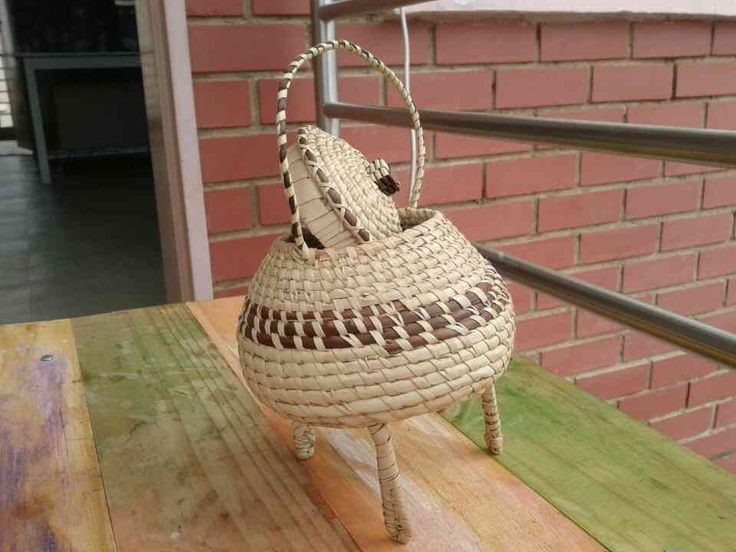 handwoven three legged pot.Basket weaving,African  traditional baskets,It can be used for storage or just for  decorating by seipeloart on Etsy