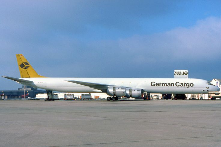 PlaneSpotters Slide-Collections: German Cargo DC-8 freighter